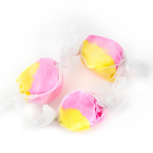 Pink & Yellow Salt Water Taffy - Strawberry Banana • Oh! Nuts®