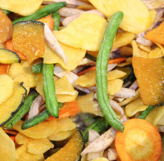 Mixed Vegetable Chip Dehydrated Snack Mix • Oh! Nuts®