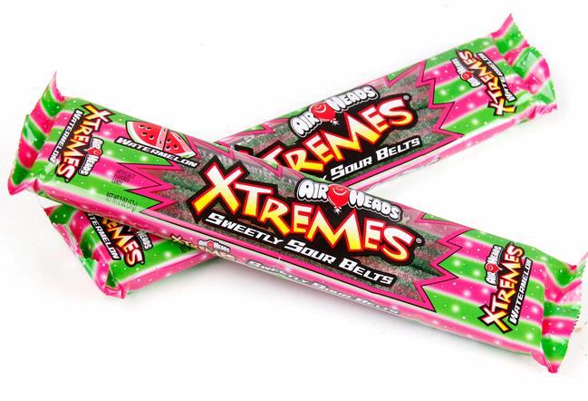 airheads xtremes wacky watermelon sour belts 18ct box