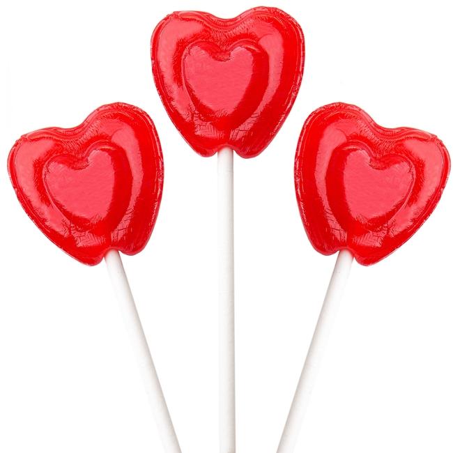 cherry heart lollipops � lollipops amp suckers � bulk candy
