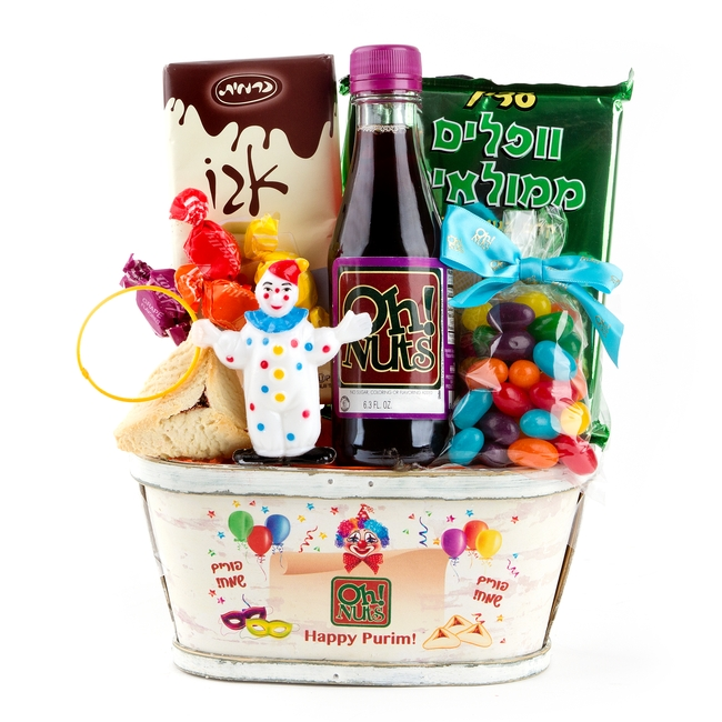 Colorful Clown Purim Basket Gt Popular In Purim Baskets