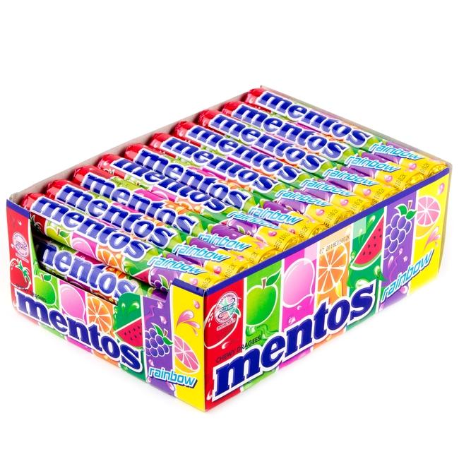 Mentos Rainbow Fruit Candy Rolls