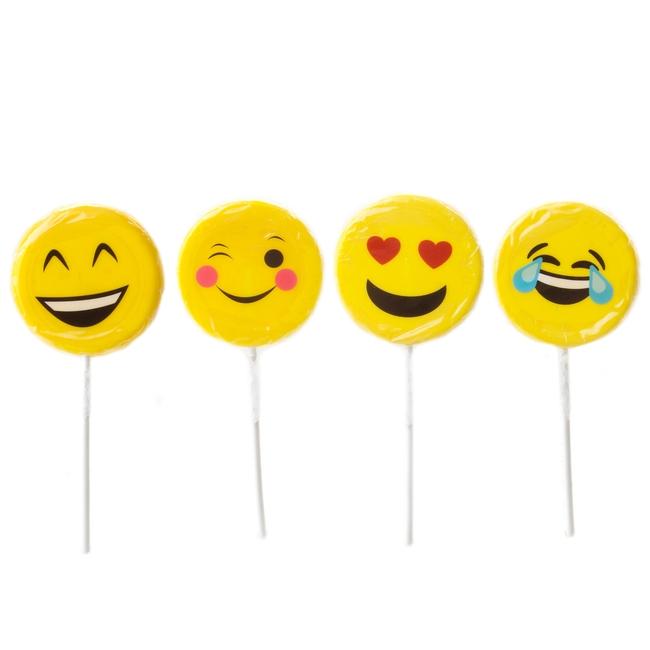 Fun Hand Made Emoticon Sugar Covered Lollipops 24ct Box