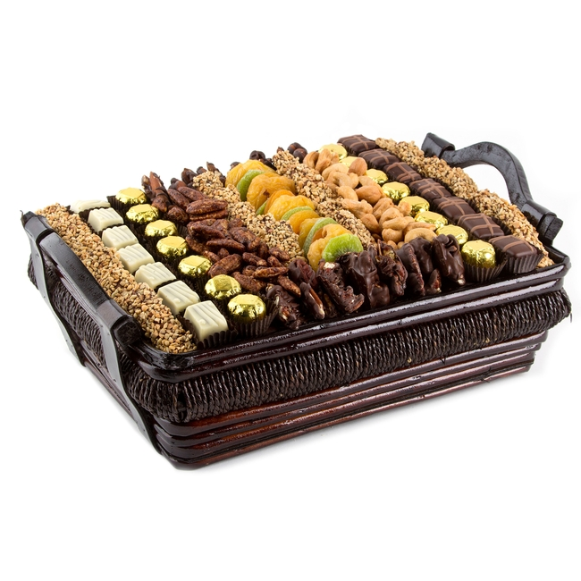 Large Chocolate Dried Fruit Amp Nut Gift Basket Nuts