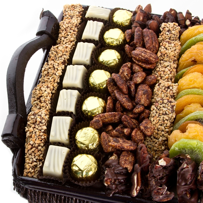 Fruit And Chocolate Gift Boxes : Large chocolate dried fruit nut gift basket nuts
