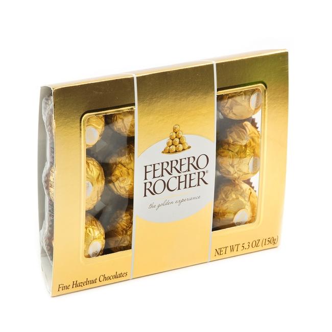 Ferrero Rocher Chocolate Truffle Gift Box 12 Pc