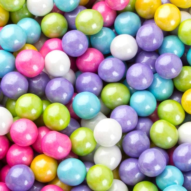 Pastel Mix Shimmer Pearl Sixlets Sixlets Milk