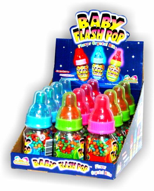 Baby Flash Pop 12ct Box Kids Candy Shoppe Bulk Candy