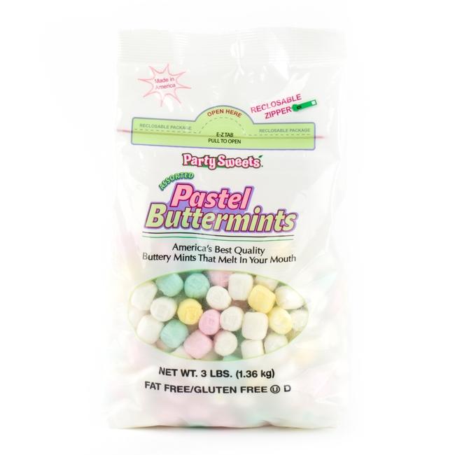Pastel Buttermints - 3 LB Bag • Unwrapped Candy • Bulk Candy ...