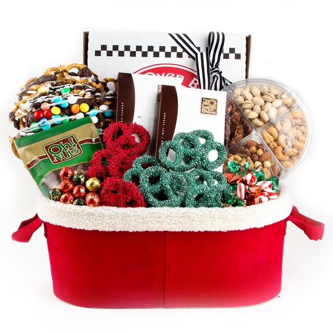 Medium pretzel bonanza basket holiday nut gift baskets