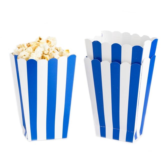 Blue Popcorn Favor Boxes : Royal blue popcorn box ct candy buffet supplies