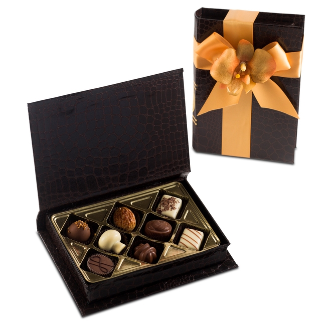 Premium Chocolate Gift Boxes : Premium belgium truffles book box pc chocolate