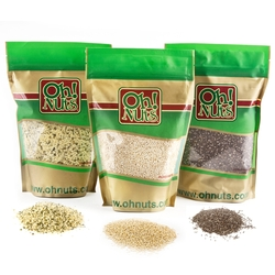 Super Food Combo Pack - Chia Seeds, Hemp Seeds & Quinoa