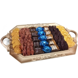 Chanukah Mirror Tray Delight - Israel Only
