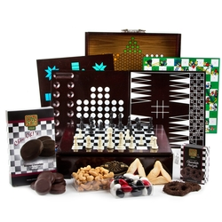 Purim 10 Games Wooden Set Gift Basket