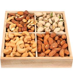 4-Section Wooden Nut Gift