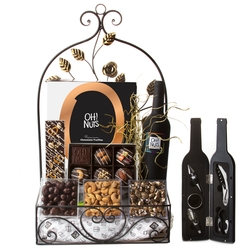 Fantastic Golden Window Box Gift Basket Mishloach Manos