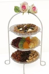 Tu B'Shvat 3 Tier Glass Stand - Israel Only