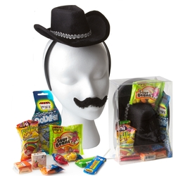 Purim Kids Cowboy Dress-Up Gift Basket Misloach Manos - 6 Pack