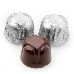 Non-Dairy Hazelnut Silver Foiled Chocolate Truffles - 5 LB