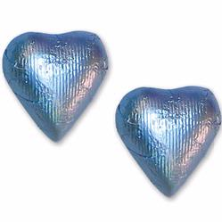 Pastel Blue Foiled Milk Chocolate Hearts