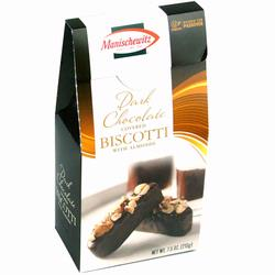 Dark Chocolate Covered Biscotti with Almonds
