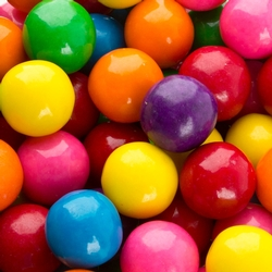 Assorted Rainbow Large Gumballs