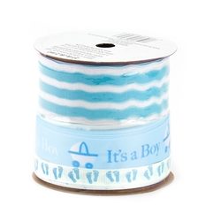 Blue Baby Shower Tree Ribbon Spool