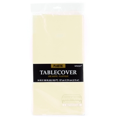 Cream Plastic Table Cover