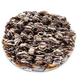 Chocolate Pretzel Pie With Halva Squares - 12