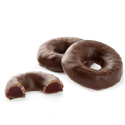 Chocolate Raspberry Jelly Rings