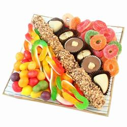 Gummy & Chocolate Glass Gift Tray