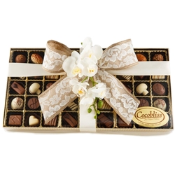 Premium Belgium Truffles Clear Brown Box - 45 PC Box