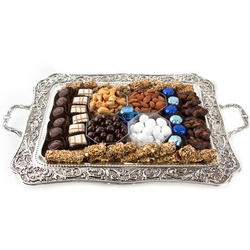 Hanukkah Silver Candle Tray Gift