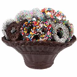 Chocolate Pretzel Dark Chocolate Basket