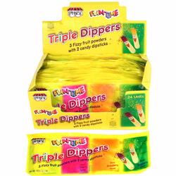 Triple Dipper Fizz Powder & Candy Sticks - 24PK