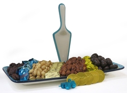 Chanukah Combo Tray Gift Basket - Israel Only