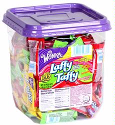 Assorted Laffy Taffy Chews - 145CT Tub