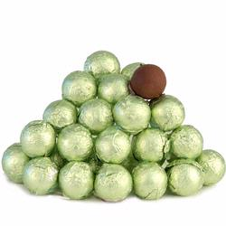 Leaf Green Foiled Milk Chocolate Balls