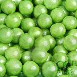 Lime Green Shimmer Pearl Mini Gumballs