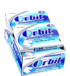 Orbit Professional Mint Gum Pellets - 12CT Case