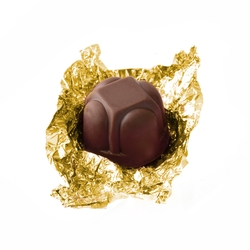 Gold Foiled Diamond Chocolate Truffles