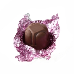 Non-Dairy Light Pink Foiled Diamond Chocolate Truffles