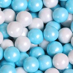 Powder Blue & White Shimmer Pearl Mini Gumballs