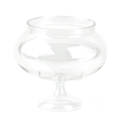Clear Pedestal Bowl