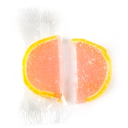 Wrapped Pink Grapefruit Jelly Fruit Slices
