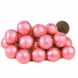 Bright Pink Foiled Milk Chocolate Balls