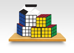 Small Rubik's Cube Boxes - 6 Pack