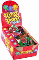 Twisted Candy Ring Pops - 24CT Case