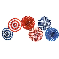 Red, White & Blue Fan Decorations
